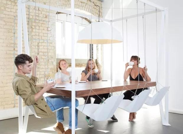 O estúdio Yanko Design criou uma solução para salas de reuniões mais divertidas (Foto: Yanko Design/ Reprodução)