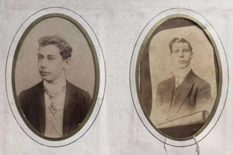 Dilermando de Assis, à esquerda, e o irmão, Dinorah de Assis, à direita — Foto: Arquivo Pessoal/Dirce de Assis Cavalcanti