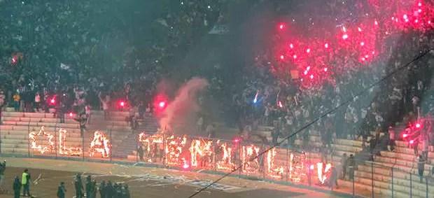 La Temible torcida San José no jogo contra o Corinthians (Foto: Diego Ribeiro)
