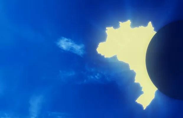 O eclipse do Brasil (Foto: Ilustração: Alexandre Lucas)