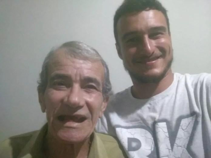 Sobrinho encontra tio idoso que estava desaparecido há 30 anos e morava na rua no interior de SP — Foto: Arquivo pessoal/Willian Garcia Souza