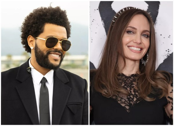 The Weeknd and Angelina Jolie (Photo: Getty Images)