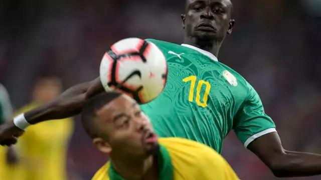 Sadio Mané foi destaque do Senegal diante do Brasil