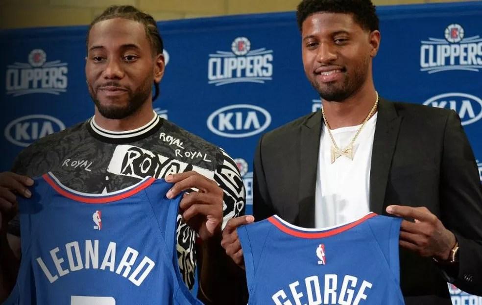 Kawhi Leonard Paul George Los Angeles Clippers — Foto: Getty Images