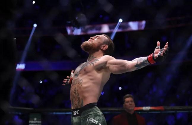 Conor McGregor anunciou, pela terceira vez na carreira, sua aposentadoria, mas acabou novamente voltando atrás — Foto: Getty Images