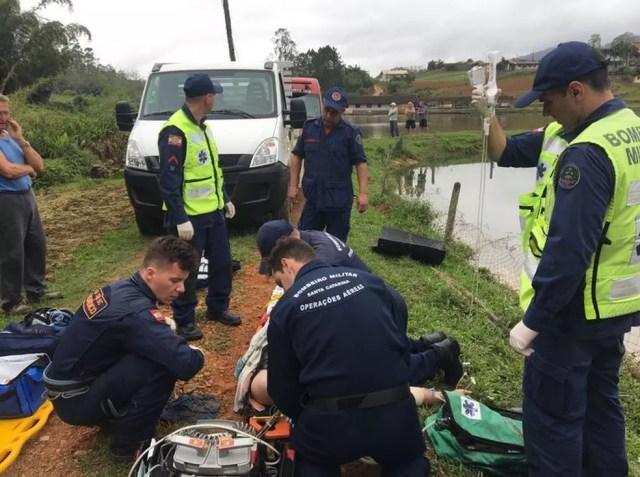 Vítima não resistiu ao acidente (Foto: Corpo de Bombeiros/Divulgação)