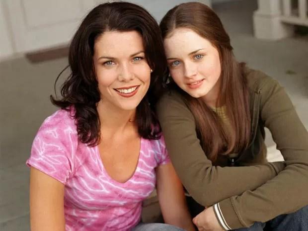 Lauren Graham e Alexis Bledel, de 'Gilmore girls' (Foto: Divulgação)