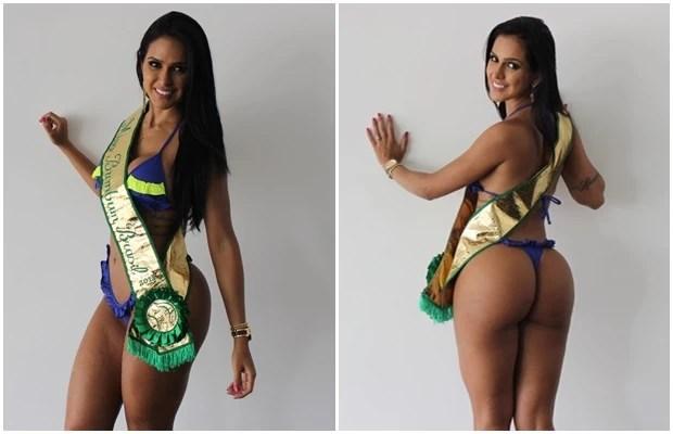 Dai Macedo diz que está aproveitando cada minuto como a nova Miss Bumbum (Foto: Fernando Vasconcelos/ G1)