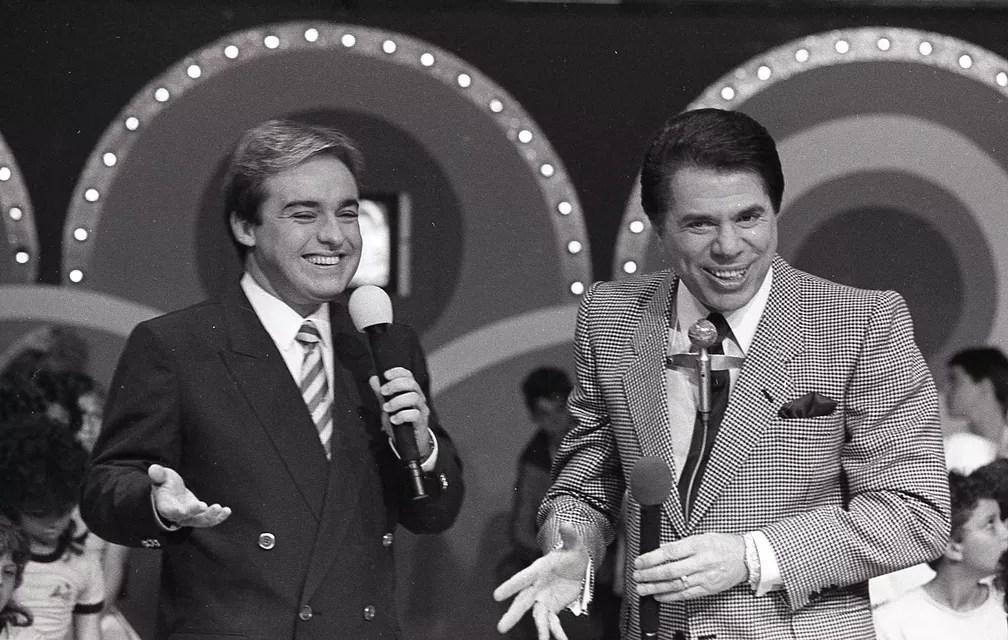 Gugu Liberato e Silvio Santos no programa 'Roletrando' — Foto: Moacyr dos Santos/Acervo do SBT