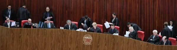 Ministros reunidos no TSE durante sessão de julgamentos nesta semana (Foto: Ascom/TSE)