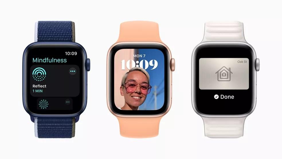 watchOS 8, sistema dos relógios da Apple, anunciado em junho de 2021 — Foto: Divulgação/Apple