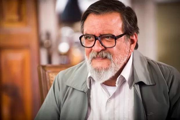 Luis Melo interpreta um japonês na novela Sol Nascente (Foto: Globo/João Miguel Júnior)