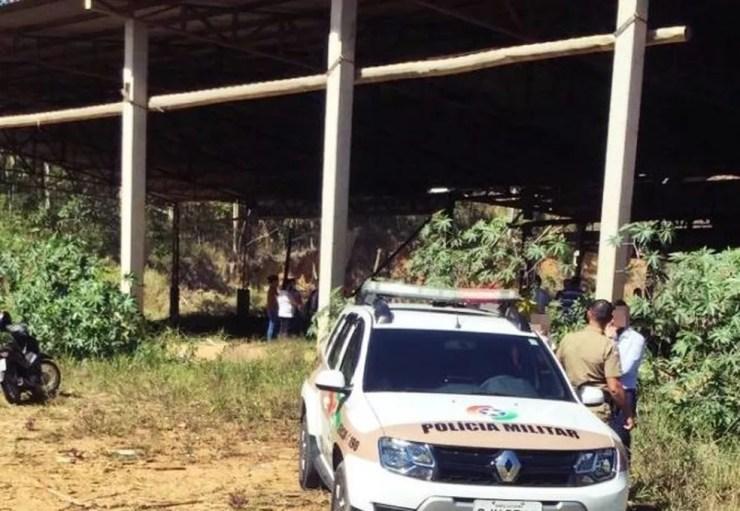 Corpo de mulher grávida que estava desaparecida foi localizado em Canelinha — Foto: Lucas Eccel/Rádio Clube fm 88.5