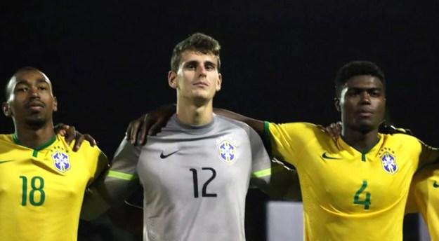 Goleiro Georgemy pela seleção brasileira sub20 — Foto: Divulgação
