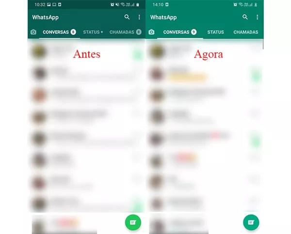 Mudanças nos tons de verde do WhatsApp são notadas por usuários do Twitter — Foto: Reprodução/Marcela Franco