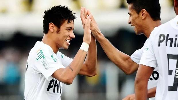 neymar santos gol palmeiras (Foto: Marcos Ribolli / Globoesporte.com)