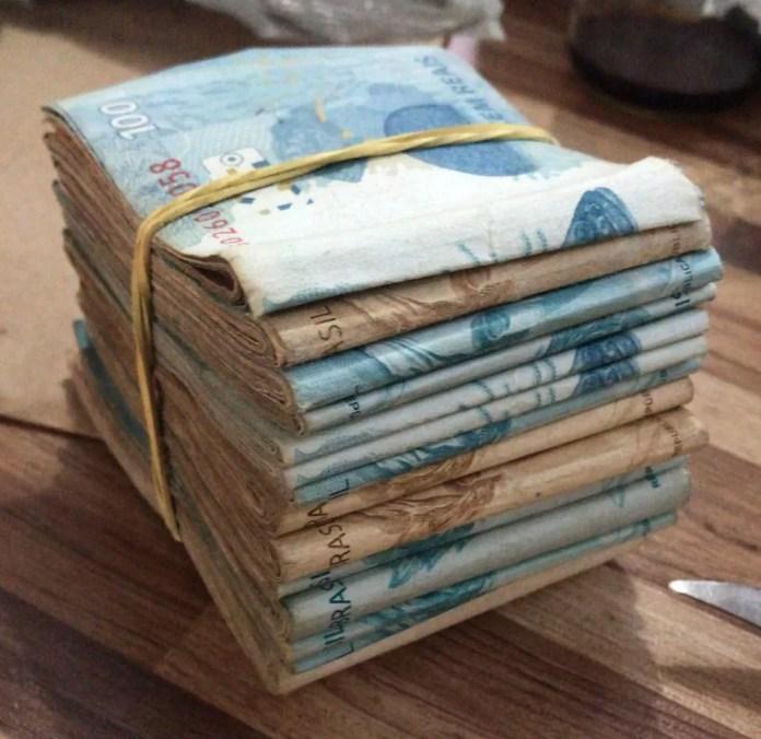 Dinheiro apreendido na Operação Red Money (Foto: Polícia Civil de MT/Assessoria)