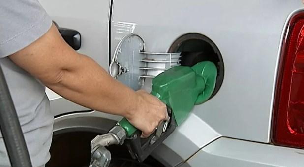 Posto de combustíveis em Uberaba (MG) (Foto: Reprodução/TV Integração)