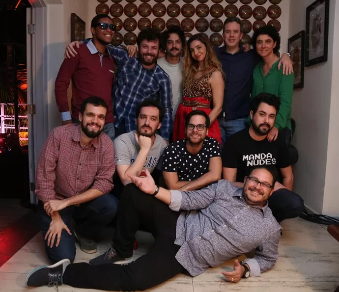 Equipe do Adnight reunida em dia de lançamento  (Foto: Isabella Pinheiro/Gshow)