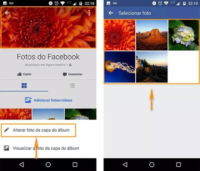 Altere a foto de capa do álbum do Facebook pelo aplicativo Android (Foto: Reprodução/Barbara Mannara)