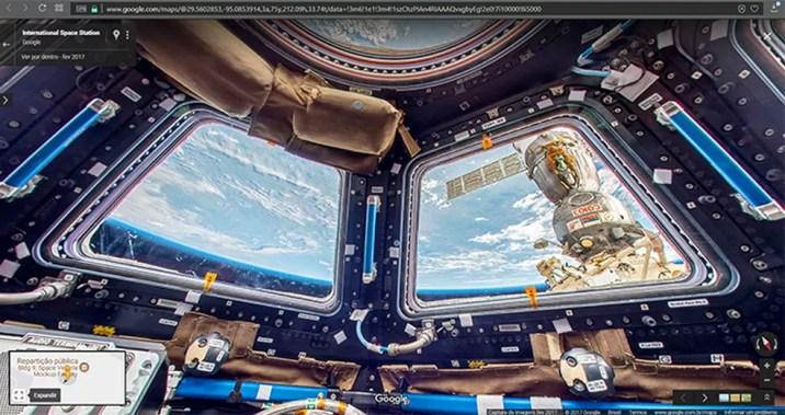 Google cria experiência Street View da Estação Espacial Internacional