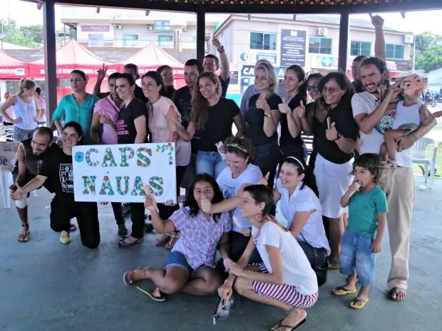 Programação marcou Dia da Saúde Mental em Cruzeiro do Sul  (Foto: Adelcimar Carvalho/G1)
