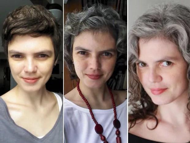 Elisa Colepicolo, de 34 anos, está há 2 anos sem tingir o cabelo (Foto: Arquivo Pessoal)