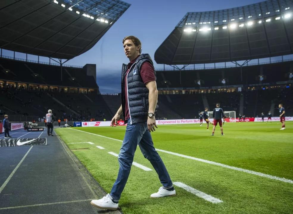Julian Nagelsmann está perto de levar o Hoffenheim para a primeira Liga dos Campeões de sua história (Foto: AFP)