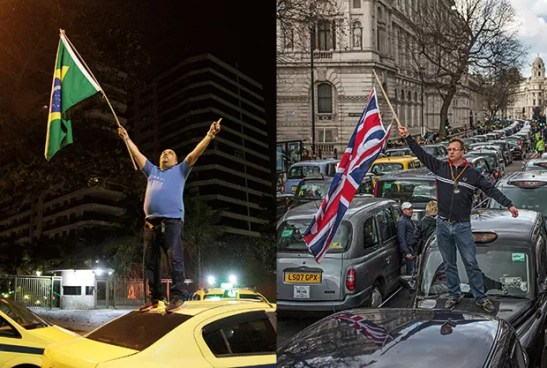 Empresa;Uber;Pressão Taxistas protestam contra a regulamentação do serviço pelo mundo (Foto: O Globo / GettyImages)