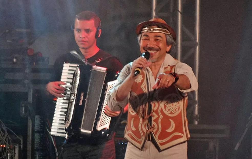 Santanna, que havia ficado de fora do São João 2017, foi confirmado para o evento em 2018.  (Foto: Luna Markman/G1)
