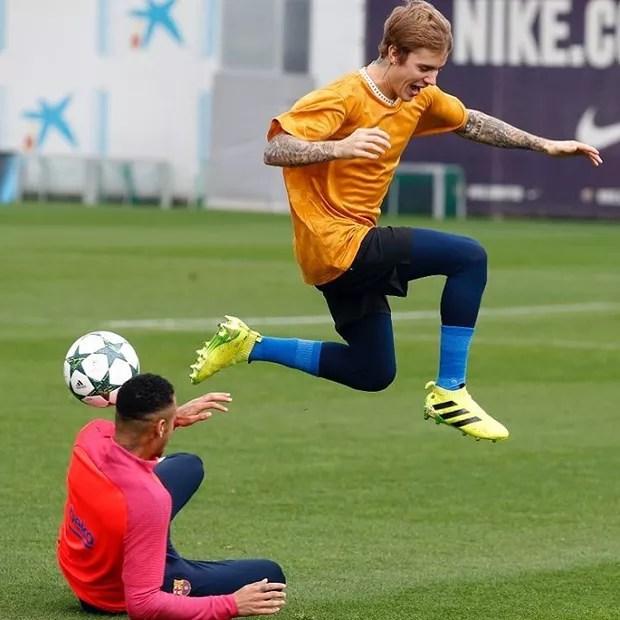 Neymar e Justin Bieber (Foto: Reprodução/Instagram)