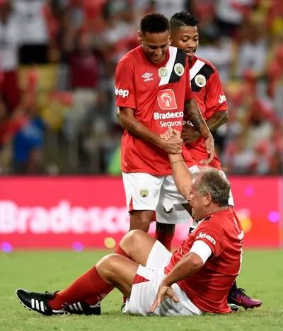 Zico Neymar Jogo das Estrelas (Foto: André Durão)