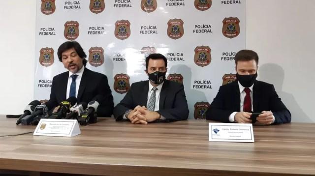 Polícia Federal deu detalhes de operação nesta terça — Foto: Eduardo Rodrigues/EPTV