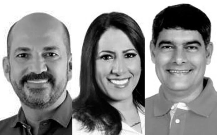 José Robério (esq), Claudia Oliveira e Agnelo Santos (dir) são os prefeitos afastados na Operação Fraternos, que investiga fraudes em contratos no sul da Bahia. (Foto: Montagem/G1)