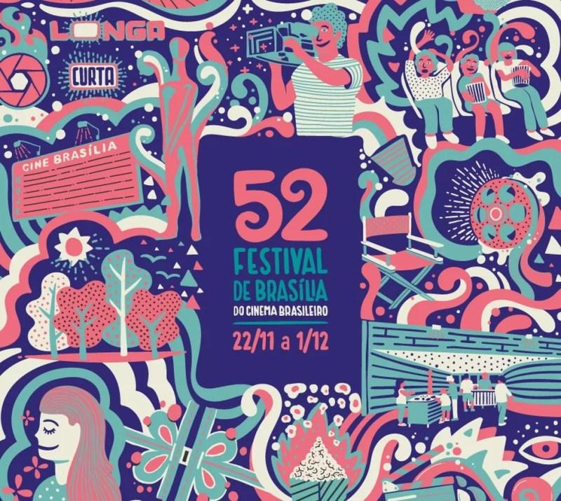 Identidade visual da 52ª edição do Festival de Brasília do Cinema Brasileiro — Foto: Festival de Brasília do Cinema Brasileiro/Divulgação