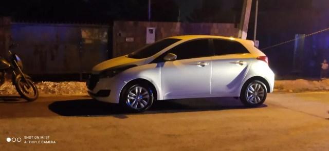 Carro da empresária foi encontrado com o cliente que confessou o assassinato em Várzea Grande — Foto: Polícia Militar de Mato Grosso