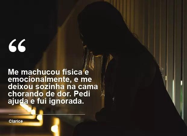 Vítima de violência (Foto: Gustavo Dantas/G1)