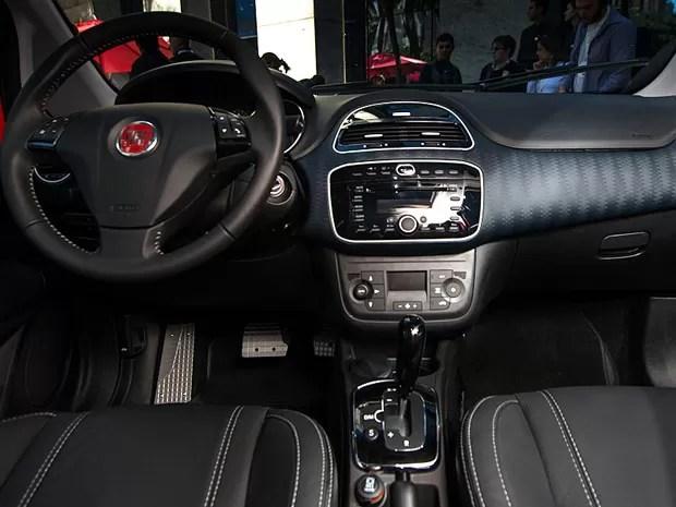 Acabamento interno do Fiat Punto é um dos atrativos do carro (Foto: Flavio Moraes/G1)