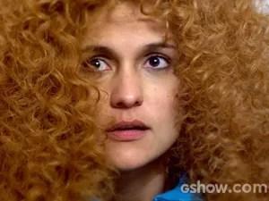Gina fica envergonhada com elogio de Viramundo (Foto: Meu Pedacinho de Chão/TV Globo)