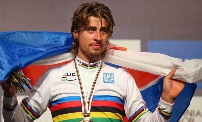 Peter Sagan é um velocista na estrada, mas já foi campeão mundial júnior de mountain bike