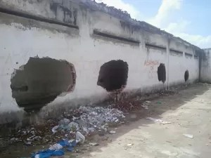 Danos à estrutura da penitenciária de Alcaçuz ainda não podem ser quantificados (Foto: Divulgação/Sejuc-RN)