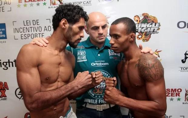 bruno Emilia X Marcos Vinicius Cabecinha jungle fight (Foto: Fernando Azevedo / Divulgação)