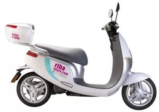 Scooter elétrica da empresa ja pode ser encontrada na região central de São Paulo — Foto: Divulgação/ Riba Share