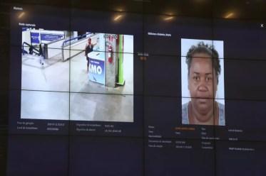 Mulher foi identificada por sistema de reconhecimento facial — Foto: Divulgação/SSP-BA