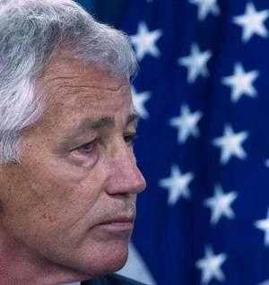 Chuck Hagel falou que o Pentágono mobiliza forças para possível ação (Foto: Paul J. Richards/AFP)