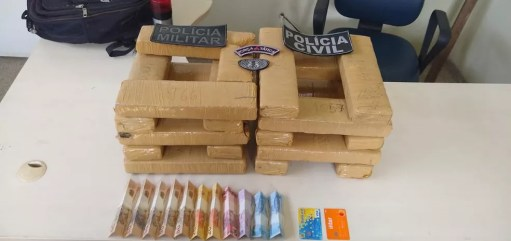 Vinte quilos de droga foram apreendidas em Ji-Paraná.  — Foto: Divulgação/Polícia Civil