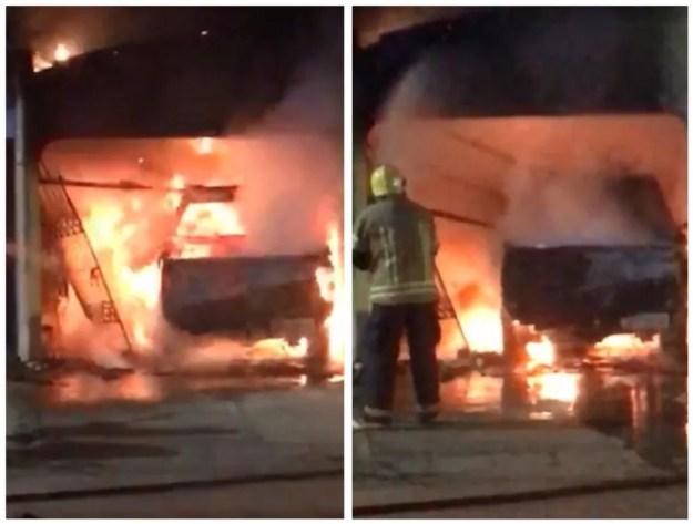 Homem teria colocado fogo no próprio carro, ingerido combustível e tentado entrar no carro em chamas em Guajará, RO.  — Foto: Reprodução/Redes Sociais