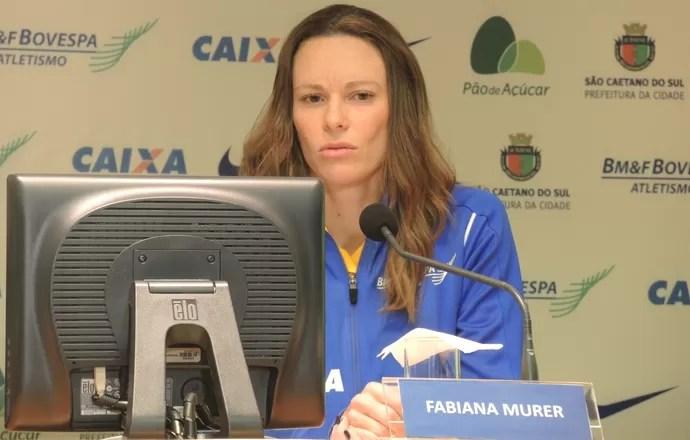 Fabiana Murer evento SP atletismo (Foto: David Abramvezt)
