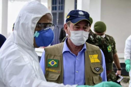 Ministro da Defesa, general Fernando Azevedo e Silva, esteve em Natal nesta terça-feira (16) — Foto: Pedro Vitorino