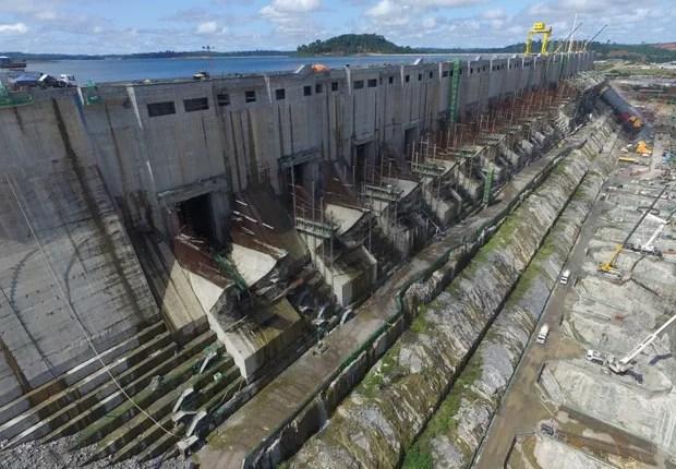 Obras da usina hidrelétrica de Belo Monte, no Pará (Foto: Osvaldo de Lima/Norte Energia/Divulgação)